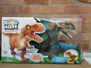 Robo Alive Attacking T-Rex Series 1 Dino For Age 3 And Over New
