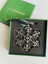 Boeing Weihnachtsbaum Ornament mit smaragdgrünen Swarovski®-Kristallen NEU OVP