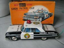 Blechspielzeug / Highway Patrol Car mit Sirene und Dachleuchte / Made in Japan