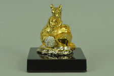 Handcrafted Vienna 24K Gold Plated Bronze figure modeled and Sculpture Gift
