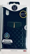UUNIQUE LONDON Quilted Pocket Hard Shell Case For iPhone Xs Max - Black
