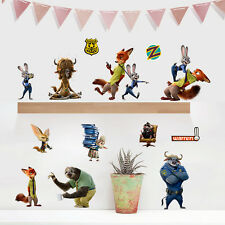 Zootopia Wall Stickers Decal Removable Decor II Nick Wilde Judy Hopps Kids UK