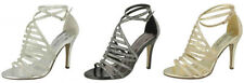 Stiletto Party Textured Synthetic Heels for Women