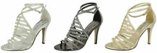 Stiletto Textured Synthetic Heels for Women