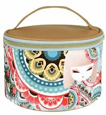 Kimmidoll HARUYO PEACE Japanese Round Travel Cosmetic Bag Makeup OFFICIAL