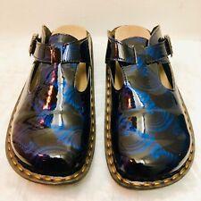 Ingaro Clogs Black & Blue Mules Womens Size 7
