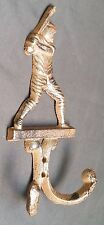 "6 3/4"" BASEBALL Softball Player Dbl Hook Umbrella Key Coat Hanger Holder Decor"