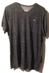 Men's Hollister Dark Blue Navy V Neck Tee T Shirt Soft Size Large L Lightweight