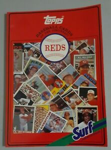 1987 Cincinnati Reds Surf Topps Baseball Card Collectible Book ALL TOPPS CARDS