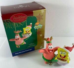 Carlton Cards Nickelodeon Heirloom Spongebob Patrick Starfish Reindeer Ornament