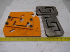 """3"""" & 4"""" C-Channel Shear Blades Ironworker Unknown Brand Lot of 2 See Info"""