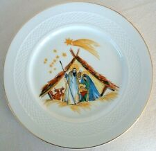 HUTSCHENREUTHER NATIVITY PLATE Christmas Stable JESUS Stars HOHENBERG GERMANY