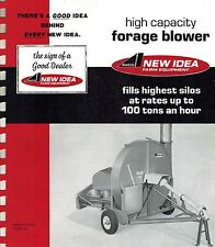 NEW IDEA 620 HIGH CAPACITY  FORAGE BLOWERS  SPECIFICATIONS and SALES BROCHURE