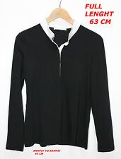 FABIANA FILIPPI WOMAN LADY TOP BLACK SHIRT BLOUSE MARKED SIZE L MADE IN ITALY