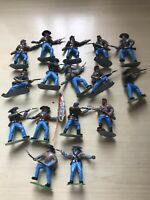 VINTAGE TIMPO /TOYWAY ACW CONFEDERATE SOLDIERS X 16 .ALL REPAINTED VGC