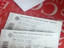 Two paw patrol live tickets at the BIC bournemouth on the Saturday 1st September