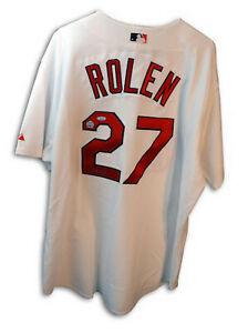 Autographed Scott Rolen White Cardinals Jersey