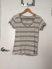 Cotton On Grey White Striped T-shirt Top Sz M New RRP $30