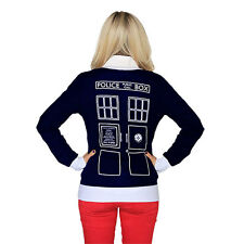 BBC Doctor Who - Union Jack TARDIS CARDIGAN - Her Universe DOCTOR WHO SWEATER