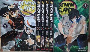 Demon Slayer Kimetsu No Yaiba Manga Volume 2-7 English lot New graphic novel