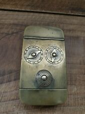 Rare Antique Victorian 2 Dial Brass Miners Snuff Box