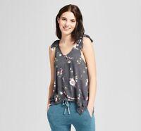 Xhilaration 542095 Women's Sleep Tank - Tie Strap V-Neck Tank - Floral Print