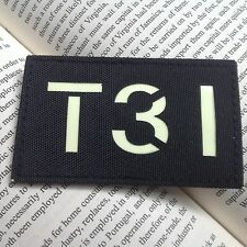 GLOW IR  T31 Call Sign  MILSPEC Special Forces AIRSOFT TACTICAL PATCH
