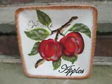APPLES CERTIFIED INTERNATIONAL SQUARE DISH SERVING PLATE AUTUMN KATE McROSTIE