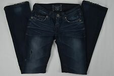 BIG STAR Liv Boot Cut Distressed Studded Dark Blue Denim Jeans 23R (23 X 32)