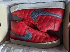 Nike SB 2006 Supreme Blazer High Red Size 9 USA bundle laces