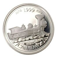 1999 Canada Millennium Series June Silver Proof 25 Cents Quarter!!
