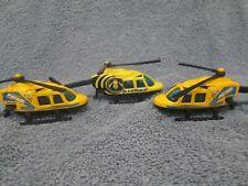 Set Of 3 Helicopter Hotwheels Mattel 1989 Race Patrol, Stinger