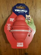 New Vibrant Life Dog Toy Treat Buddy - Chew Level 5 Heavy Chewer + Safe Rubber