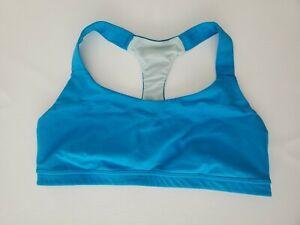 EUC Lululemon Run: Hook Me Up Sports Bra Blue Power Luxtreme Adjustable Size 12