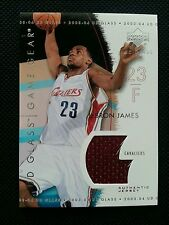LeBRON JAMES 2003-04 UPPER DECK UD GLASS GAME GEAR ROOKIE JERSEY SP RC!CAVALIERS