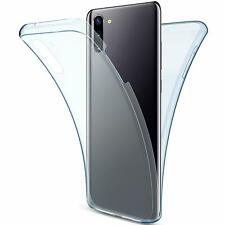 For Samsung Galaxy Note 10 Full Body 360 Silicone Gel Clear Dual Case Cover