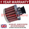 22MM AIR OIL CRANK CASE BREATHER FILTER MOTORCYCLE QUAD CAR RED & CHROME ROUND