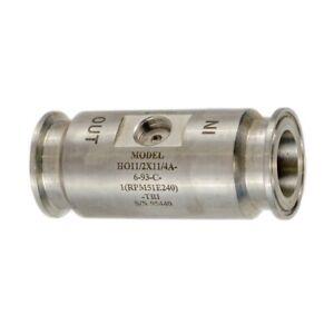 "Hoffer HO Series Flow Meter Liquid Service 1 1/4"" Turbine 1 1/2"" Pipe Connection"
