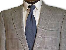 $495 Jos A Bank Grey Glencheck 100% wool Sport Coat size 42R C084