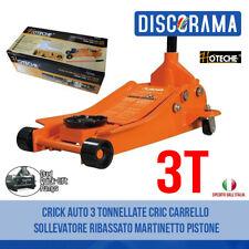 CRICK AUTO 3 TONNELLATE CRIC CARRELLO SOLLEVATORE RIBASSATO MARTINETTO PISTONE