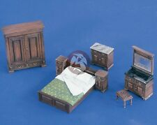 Verlinden 1/35 Full Bedroom Furniture [Resin Diorama Accessory Model kit] 2218