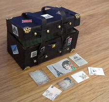 Maison de poupées handmade miniature steamer world traveller trunk vapeur poitrine LGW