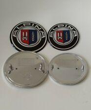 Alpina Logo 74mm + 82mm Auto Fronthaube Motorhaube Emblem Logo Heck Kofferraum