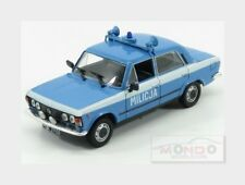Polski Fiat 125P Milicja Police 1969 Light Blue White EDICOLA 1:43 ED117370