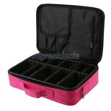Professional Makeup Artist Train Case Cosmetic Beauty Organizer Box 2-layer
