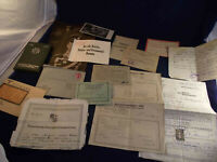 Konvolut Papiere Dokumente, auch Saargebiet, 1915-1945
