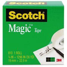 """Scotch Magic Tape, Clear 3/4"""" x 1296"""" 1 ea"""
