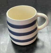 4 x Joules Galley Grade Stoneware Mug - Blue Stripe
