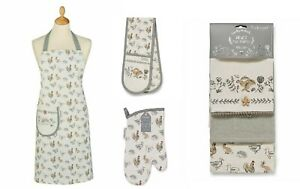 Cooksmart Country Animals, Oven Glove, Tea Towels Or Apron