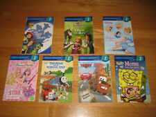 Lot of 7 Early Reader Step Into Reading Disney Level 2 Cars, Princesses, Thomas